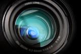 Close-Up View on Black Video Camera Lens Fotografisk trykk av  Kokhanchikov
