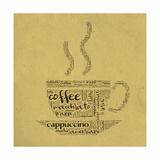 Coffee Cup Of Words Posters tekijänä  alanuster