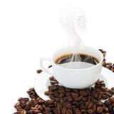 Coffee Border.Isolated On White Poster tekijänä Subbotina Anna