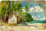 Tropical Bungalow-Retro Styled Picture Posters by  Maugli-l