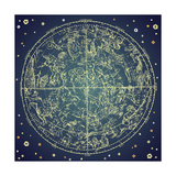 Vintage Zodiac Constellation Of Northern Stars Poster di Alisa Foytik