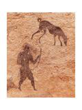 Famous Prehistoric Rock Paintings Of Tassili N'Ajjer, Algeria Premium Giclee-trykk av  DmitryP
