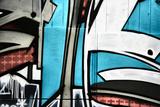 Abstract Smart Graffiti Pic With Blue And White Fotografisk trykk av  sammyc