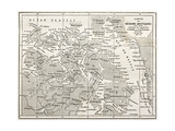 Old Map Of Arctic Region Of Sir John Franklin Northwest Passage Exploration Premium Giclee-trykk av  marzolino