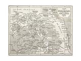 Old Karte von Arctic Region Of Sir John Franklin Northwest Passage Exploration Poster von  marzolino