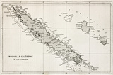 New Caledonia And Loyalty Island Old Map Poster von  marzolino