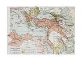 Ottoman Empire Historical Development Old Map (Between 1792 And 1878) Kunstdrucke von  marzolino
