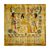 Old Egyptian Papyrus Prints by  Maugli-l