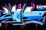 A Smart Graffiti Tag On A Brick Wall Fotoprint van  sammyc