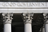 Good Government Inscription on a New York City Court House. Photographic Print by  SeanPavonePhoto