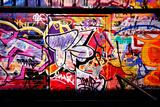 Crazy Graffiti Perspective And Shadows Fotoprint van  sammyc