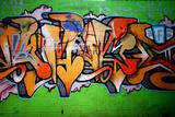 Graffiti Tag Thats Green Lámina fotográfica por  sammyc