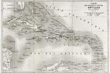 Antilles Old Map. Created By Vuillemin And Erhard, Published On Le Tour Du Monde, Paris, 1860 Posters tekijänä  marzolino