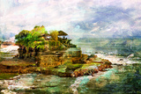 Ancient Balinese Temple - Picture In Painting Style Prints by  Maugli-l