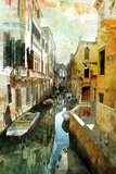 Pictorial Venetian Streets - Artwork In Painting Style Prints by  Maugli-l