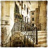Streets Of Old Venice -Picture In Retro Style Prints by  Maugli-l