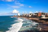 Barra Beach in the Beautiful City of Salvador in Bahia State Brazil Fotografisk trykk av  OSTILL