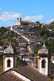 View of the Unesco World Heritage City of Ouro Preto in Minas Gerais Brazil Fotografisk trykk av  OSTILL