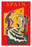 Spain - Flamenco Dancers Juliste tekijänä Bernard Villemot