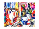 still life with a bottle,2017 Giclee Print by Alex Caminker