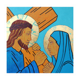 Jesus meets his mother Giclée-vedos tekijänä Sara Hayward