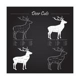 Deer Meat Cut Scheme Kunst von  ONiONAstudio