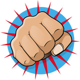 Vintage Pop Art Punching Fist Poster von  jorgenmac