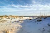 Footprints in the Sand Dunes at Dusk Fotografie-Druck von  forestpath