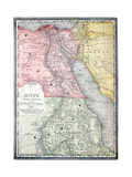 Old Map Of Egypt Premium Giclee-trykk av  Tektite