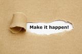 Make it Happen Torn Paper Fotografie-Druck von Ivelin Radkov