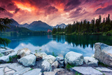 Mountain Lake In National Park High Tatra Photographic Print by Leonid Tit