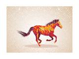 Colorful Abstract Horse Shape Giclée-Premiumdruck von  cienpies