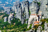 Meteora Monasteries, Greece, Horizontal Shot Photographic Print by  Lamarinx
