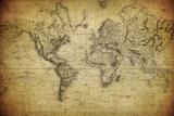 Vintage Map of the World, 1814 Kunst van  javarman