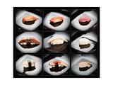 Set Of 9 Different Nigirizushi (Sushi) Láminas por  Lev4