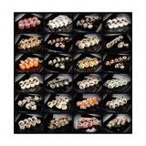 24 Types Of Sushi Rolls Poster von  Lev4