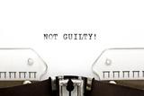 Typewriter Not Guilty Plakater av Ivelin Radkov