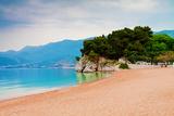 Empty Beach of Saint Stephan, Montenegro Fotografisk trykk av  Lamarinx