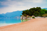 Empty Beach of Saint Stephan, Montenegro Photographic Print by  Lamarinx