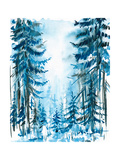 Blue Forest Premium Giclee Print by  DannyWilde