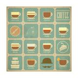 Coffee Labels Set Posters tekijänä  elfivetrov
