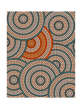 A Illustration Based On Aboriginal Style Of Dot Painting Depicting Circle Background Poster von  deboracilli