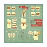 Cover Menu For Bakery Julisteet tekijänä  elfivetrov