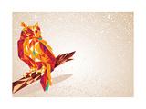 Colorful Owl Illustration Giclée-Premiumdruck von  cienpies