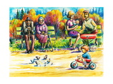 Family Premium Giclee Print by  DannyWilde