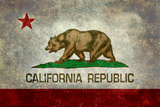 California State Flag With Distressed Treatment Affiches par Bruce stanfield