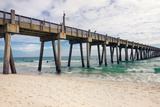 Pensacola Beach Fishing Pier, Florida Photographic Print by  forestpath