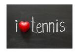 Love Tennis Print by Yury Zap