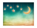 Moon And Stars Art by  egal