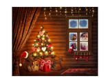 Room With Christmas Tree Poster von  egal